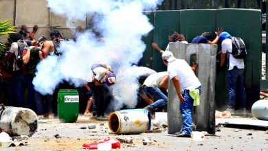 Estudiantes protestando en Managua